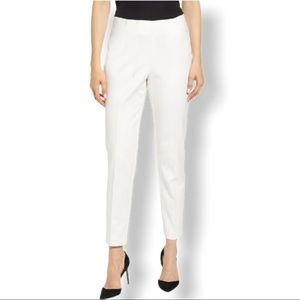 Vince Camuto White Side Zip Cotton Blend Pants NWT
